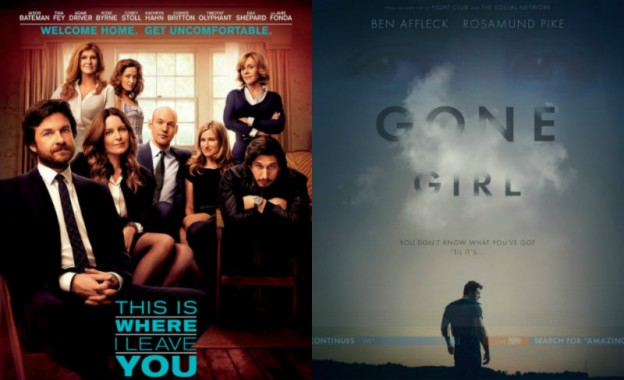 'This Is Where I Leave You' and 'Gone Girl' movie posters